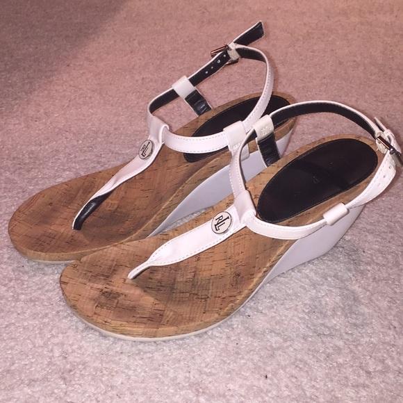 0a6a20a6ff7d Lauren Ralph Lauren Shoes - Ralph Lauren Reeta T-Strap Thong Wedge Sandals